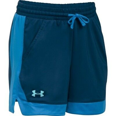 Under Armour Girls Armour Sport Shorts, Navy, Youth Large