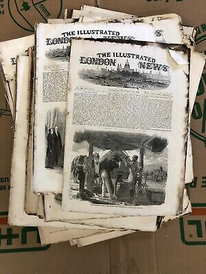Large Rare Lot of Antique  The Illustrated London New Newspapers 1854 1855