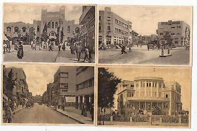 17 postcads of Tel Aviv circa 1930 made in Czechoslovakia / Free S/H