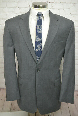 Chaps by Ralph Lauren Mens Gray Wool Classic Sport Coat Blazer Jacket SIZE 46L