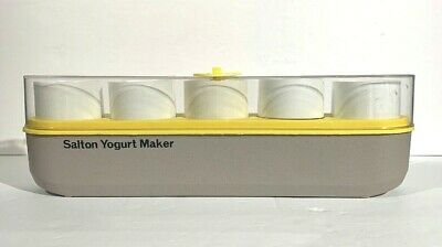 Vintage Salton Yogurt Maker Pyrex Glass Cups Home GM-5 Thermostat Control Works