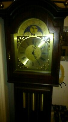 Grandfather Clock not antique but good quality reproduction nice condition
