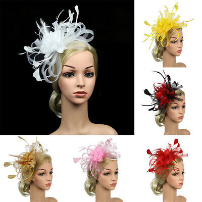 Fascinator Wedding Headband Feather Hair Accessories Ascot Flowers Ladies Race