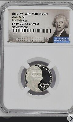 2020 FIRST W MINT PROOF JEFFERSON NICKEL NGC PF 69  First Release