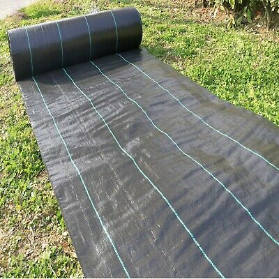 Heavy Duty Woven Weed Control Fabric Mat Driveway Membrane Garden Ground Cover