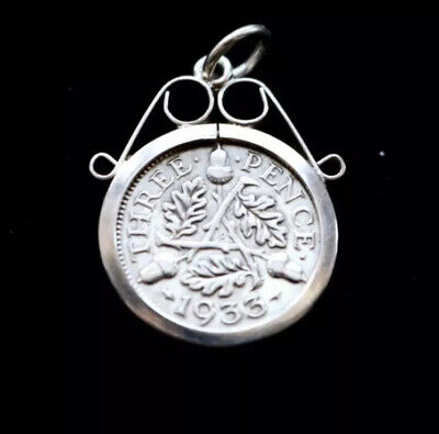 SILVER 2// SCROLL STERLING SILVER NECKLACE PENDANT COIN MOUNT HOLDER FM54