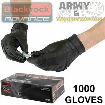 1000 Heavy Duty Strong Disposable Nitrile Gloves Black Tattoo Paint Latex Free