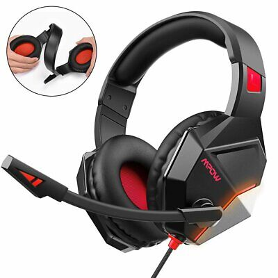 MPOW Gaming Headset Headphones Stereo Noise Cancelling Mic for PC PS4 Xbox One