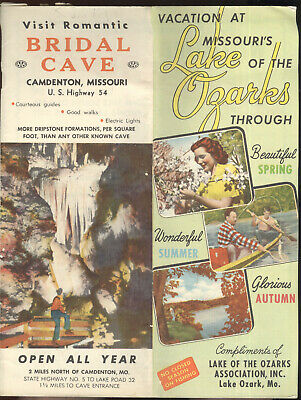 Early 1950S Travel Brochure, Lake Of The Ozarks Area