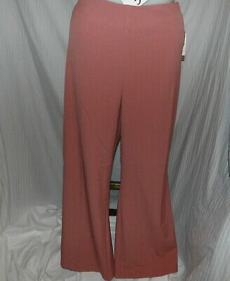 DRESSBARN ROZ & ALI Women's Pink Pull On Dress Pants Slacks Size 18W NWT