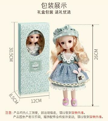 Full Set BJD dolls of knitted changeable clothes and movable joints