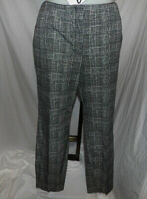 ALFANI Women's Black and White Plaid Dress Pants Slacks Size 18W