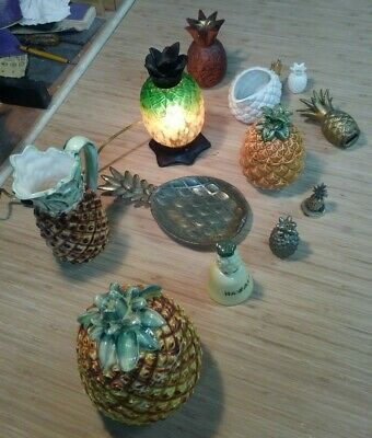 Vintage Hawaiian Pineapple Collection Tiffany Style Lamp Some Made in Japan