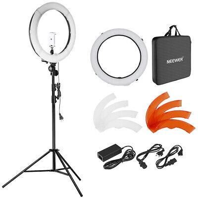 Neewer 18 inches 55W LED 5500K Dimmable Ring Light Kit for Video Makeup Portrait