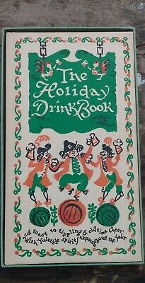 THE HOLIDAY DRINK BOOK 1951 Peter Pauper Press Cocktail Recipes in Original box