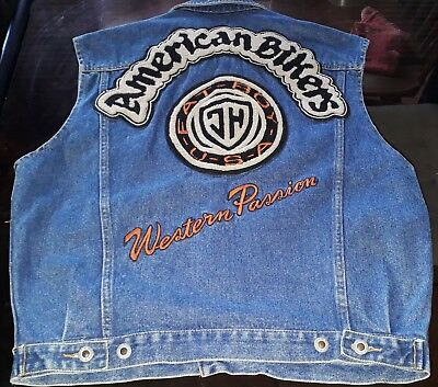 Johnny Hallyday Rare Blouson  Jean's American Bikers Western Passion Taille M
