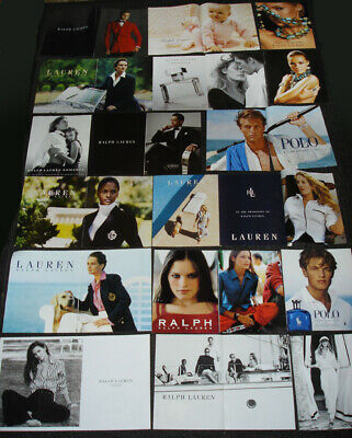 RALPH LAUREN Fashion & Fragrance MAGAZINE PRINT ADS Clipping Set - Over 70 PAGES
