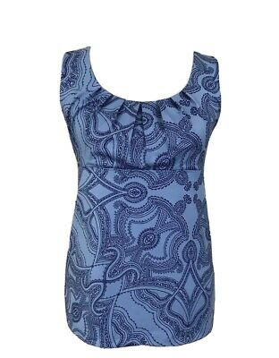 Patagonia Women's Sz M Bandha Mandala Blue Sleeveless Tank Top Stretch Yoga 2