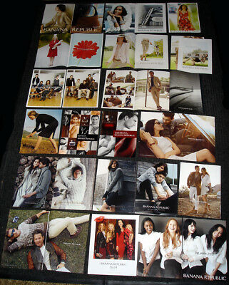 BANANA REPUBLIC Fashion MAGAZINE PRINT ADS Clipping Set - Over 45 PAGES!