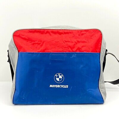 Vintage BMW Motorcycles Blue and Red Travel Bag