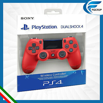 Controller Ps4 Dualshock V2  Rosso Per Console PlayStation 4  Sony Dual Shock