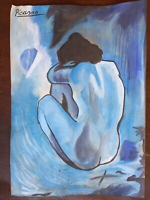 PICASSO BLUE NUDE POSTER 24x36 ART PRINT 626