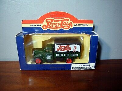 1939 FORD CANVAS BACK TRUCK  PEPSI COLA HITS THE SPOT England Die Cast New LLEDO
