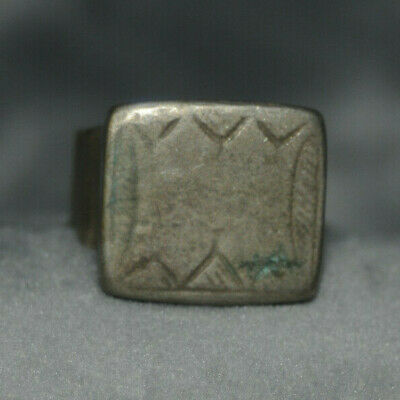 Highly Detailed Scarce Ancient viking Solid silver color Ring One of a Kind