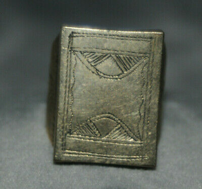 Highly Detailed Scarce Ancient viking Solid shield warrior Ring One of a Kind