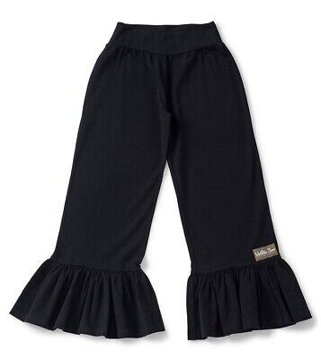 New Women's sz XS Matilda Jane Big Ruffles Black Cropped Pants NWT