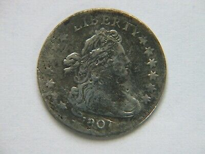 1807 Draped Bust Dime Fine Detail   (cleaning)