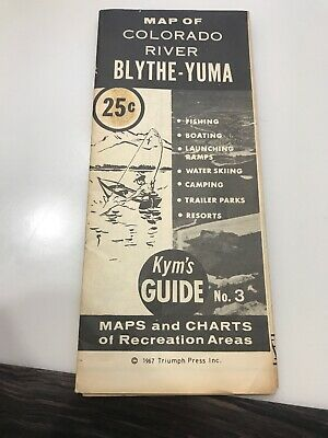 Vtg Rare Kym's Guide 1967 Colorado River BLYTHE YUMA Map Recreation area Guide