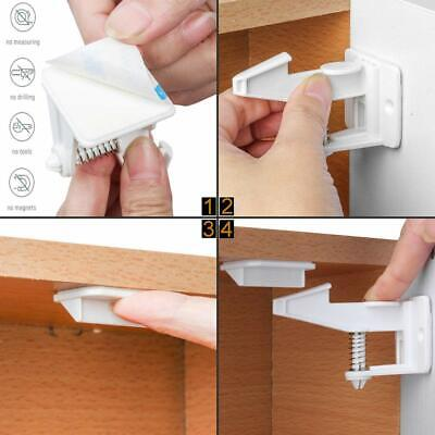 10X Baby Safety Magnetic Cabinet Locks Invisible Child Proof Cupboard Drawer