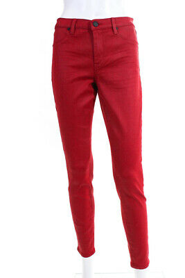 Blank NYC Womens The Mercer Super Skinny High Rise Jeans Red Size 29 11634461