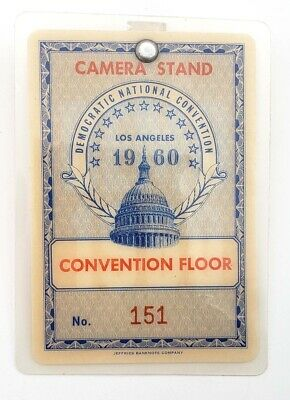 1960 Democratic National Convention Floor Badge Kennedy