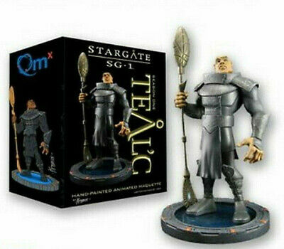 """Stargate SG-1 Teal'c Animated Maquette/Statue- 9"""" Hero Sized-QMX- Mint in Box"""