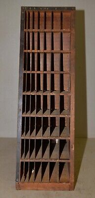 Antique Thompson Cabinet Co printer display type holder collectible oak early