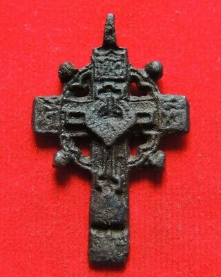 Ancient Bronze Cross  Middle Ages