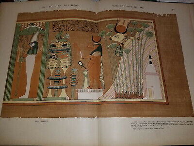 1894 Book of the Dead Facsimile Papyrus Ani British Museum 2nd Edition Osiris