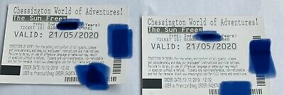 2 Chessington world of adventure tickets 21st May 2020 adult or child