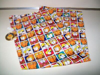 """Vintage Paws Faces Garfield & Odie 60"""" x 10 1/4"""" 100% Poly Scarf 87429 + Holder"""