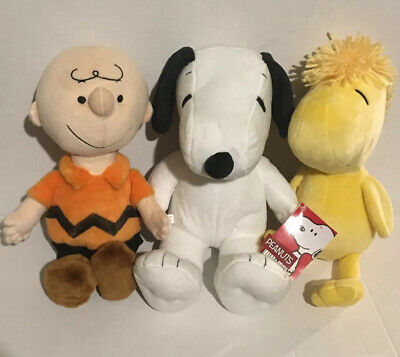 Lot of 3 PEANUTS Plush KOHL'S CARES Stuffed Woodstock Charlie Brown Snoopy