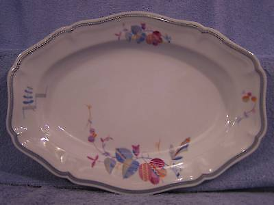 "Rosenthal Chippendale-Blue Pink-Oval Serving Platter 13 1/4"" x  9 3/4"""