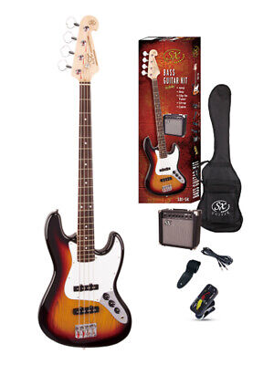 ESSEX SB1-SKTS JB STYLE BASS PACK SUNBURST  Amp 15 Watt Tuner Bag Lead