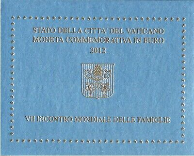 Vatican Commemorative Coin 2012 Vii. World Meeting on the Family