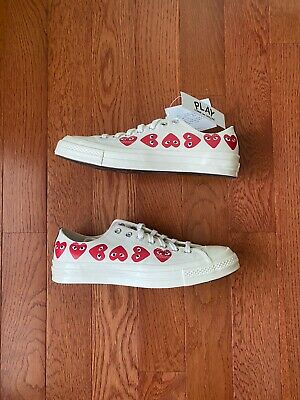 Comme des Garcons x Converse Chuck Taylor All-Star 70s Multi-Heart White
