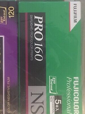5 Roll Fujifilm FUJICOLOR PRO 160 NS Daylight Color Negative Film 120 Format