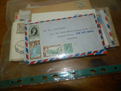 53 COMMONWEALTH COVERS 1910s - 1950s (Airletters, Postage Due, Censor etc.)