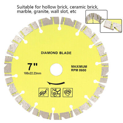 7 Inch Hot Pressed Dry Diamond Saw Blade Circular For Cutting Marble Granite