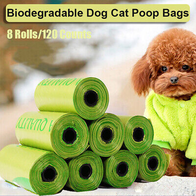 Compostable Dog Cat Poop Garbage Bags Cornstarch Earth Friendly Biodegradable